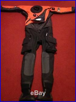 2017 Scuba Force X9 Drysuit Medium Red/Blk