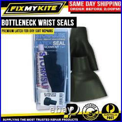2x Wrist Replacement Latex Bottleneck Seals For Drysuit Scuba Diving Repair Kit