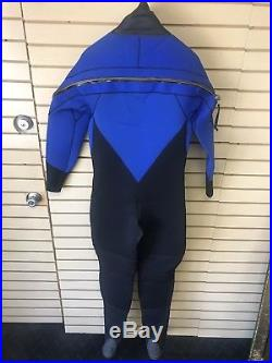 Actionplus 7mm Mens Scuba Drysuit Size Medium Drysuit Back Zip Boots Never Used