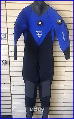 Actionplus 7mm Mens Scuba Drysuit Size Medium Wetsuit Back Zip Boots Never Used