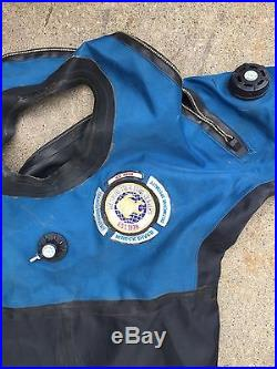 Andy's Professional Diver Drysuit Back Zipper Scuba Dive Suit XXXL