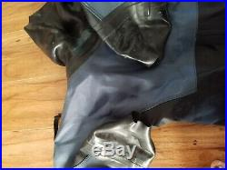Andys Dry Suit Scuba Diving Small Blue Black Drysuit Cpld Water