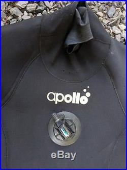 Apollo 4.0 ex Drysuit with Boots Medium Unisex Scuba Diving MSRP $1549