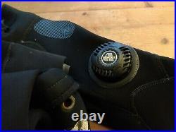 Aqua Lung Blizzard Pro 4mm Neoprene scuba drysuit ML Medium Large +pockets