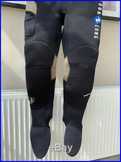 Aqua Lung Blizzard Pro Dry Suit size ML 5'7-5.9 Boot size UK 9