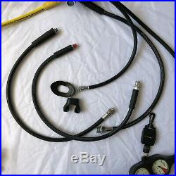 Aqua Lung LX Regulator Set with Dry Suit Hose Twin Gauge Octopus and Cary Case