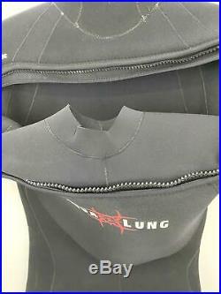 Aqua Lung Semi Dry Wetsuit 8/7mm SOLAFX Diving Suit Mens ML