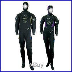 Aqualung Drysuit XS with Hood, Braces and Bag. Also Zena Zeagle BCD in S/M Size