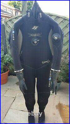 Aqualung SCUBA Dry Suit Size XL modified with KUBI dry glove system