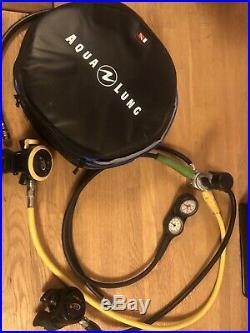 Aqualung Titan Scuba LX Regulator Set. Cold Water, Gauges, Dry Suit Hose & Bag