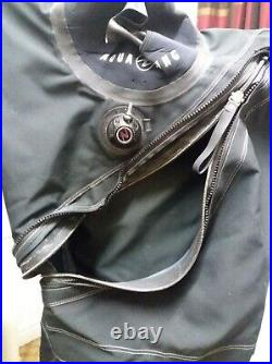 Aqualung Used once Black Drysuit The Alaskan Trilaminate with socks