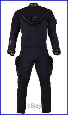 Aqualung White Fusion Bullet Scuba Diving Drysuit (NEW) 3XL