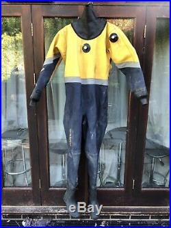 Aquion Titanium Scuba Diving Dry Suit Mens Large Size