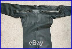 Avon Black Rubber Heavy Drysuit Scuba Diving Gummi Fetish Large Dress Size 4
