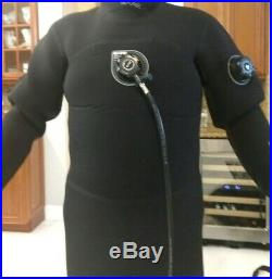 BARE D6 PRO DRYSUIT VERY CLEAN scuba thermal see videos many accessories