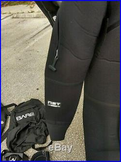 BARE D6 PRO DRY SUIT scuba thermal see videos many accessories