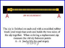 BDM SCUBA DIVING DRY SUIT ZIP 81cm (INCLUDES 2m x 38mmTAPE)