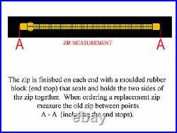 BDM YKK SCUBA DIVING DRY SUIT ZIP 93cm (INCLUDES TAPE)