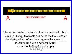 BDM YKK SCUBA DIVING DRY SUIT ZIP 96cm, TAPE, ADHESIVE SOLVENT + FREE ZIP FLUID