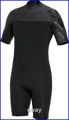 Bare 2mm Revel Shorty Scuba Diving Neoprene Wetsuit Men's