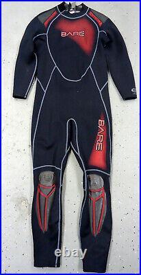 Bare Full Men's full 1mm Scuba Diving Wetsuit (USED) XL Red