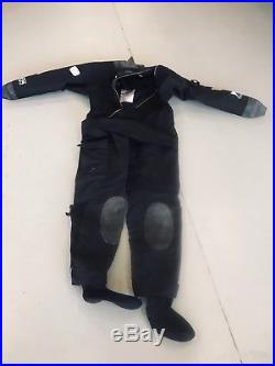 Bare Trilam HD Tech Scuba Diving Drysuit Size L with Hood and Rock Boots
