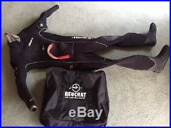 Beuchat Iceberg scuba diving dry suit. 6.5mm. Unused. Comes With Hood and Bag