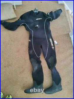 Beuchat scuba diving dry suit size large