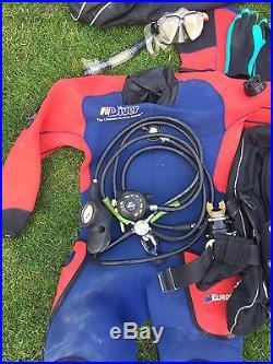 Complete Scuba Diving Kit Inc. Dry Suit & Regulator