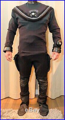 Custom Whites Fusion Tech Drysuit Like New! Complete Drysuit Lrg XL Scuba Dive