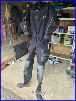 D1 WATERPROOF HYBRID Scuba Diving Drysuit Medium Large
