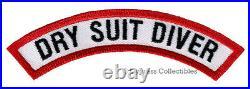 DRY SUIT DIVER CHEVRON SCUBA DIVING iron-on DIVE PATCH embroidered applique