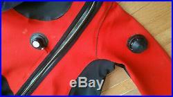 DUI CF200X SCUBA Diving Drysuit Sz Medium & Owners Manual in Excellent Condition