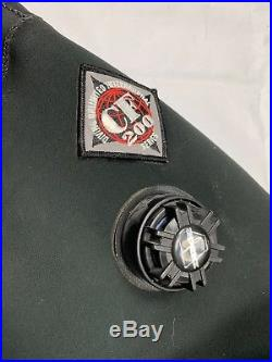 DUI CF200X SCUBA Drysuit Signature Series with Zip Seals Black Mens Size sp