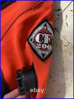 DUI CF200x Series Scuba Diving Dry Suit Size Mens Regular