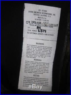 DUI DIVING UNLIMITED INTERNATIONAL Thick Wet Warm Black SCUBA DRY SUIT Sz Medium