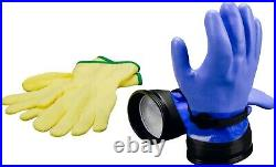 DUI Dry ZipGloves Scuba Diving Gloves HD Dry Suit Gloves w Liners PN 302374 MD