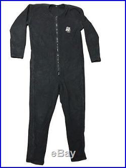 DUI Fleece Undergarment For Drysuit Scuba Diving All Black Size Large