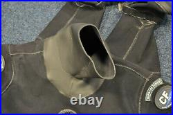 DUI Scuba Diving Drysuit Mens ML Drysuit with Neoprene Neck and Wrist Seals