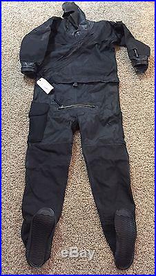 DUI Scuba Diving Full Drysuit TLS350 US Army Issue Black Adult Sizes