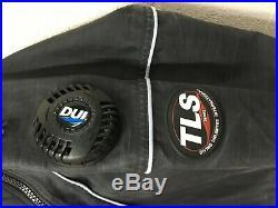 DUI TLS350 Scuba Drysuit Men's Size Large with NEW Zip Seals