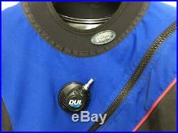 DUI TLS350 Scuba Drysuit Men's Size X-Large with NEW Zip Seals