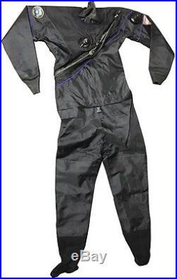 DUI TLS Drysuit For Scuba Diving Women's Size Medium Color Black With Bag