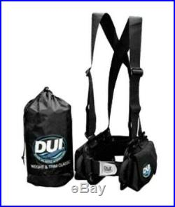 DUI Weight & Trim System for Dry Suit Scuba Diving LARGE Holds up to 40 lbs