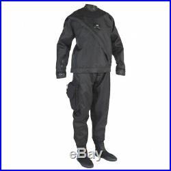 DUI Yukon II Men's Drysuit Scuba Diving Dry Suit Dive Size LT Large Tall Black