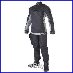 DUI Yukon II Men's Drysuit Scuba Diving Size Large Grey Dive Dry Suit