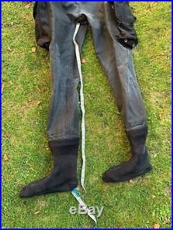 DUI diving unlimited international dry suit membrane scuba diving drysuit large