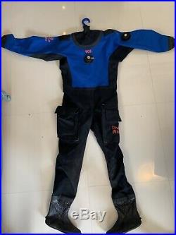 Dive Rite 905 Cave Diving Dry Suit, Size A, Scuba, Blue