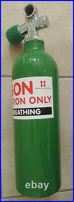 Dive Team Argon 1.5L 200 bar aluminium drysuit inflation bottle scuba tank