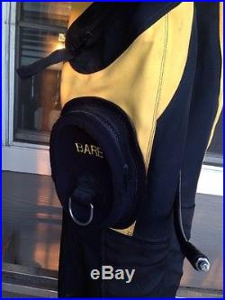 Diving Concepts Custom Drysuit Scuba Diving Yellow Black, Socks & Dry Gloves